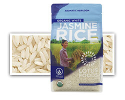 Organic White Jasmine Rice - click to buy or for more information