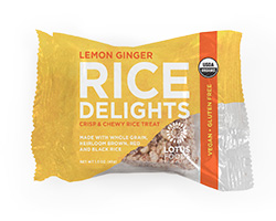 Organic Lemon Ginger Rice Delights
