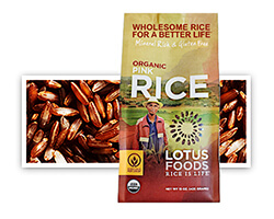 Organic Pink Rice - click to buy or for more information