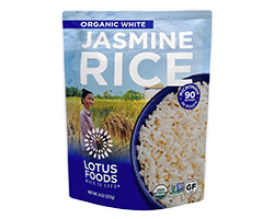 Organic White Jasmine Rice Heat & Eat Pouch - click to buy or for more information