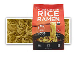 Organic Millet & Brown Rice Ramen (4 Ramen Cakes) - click to buy or for more information