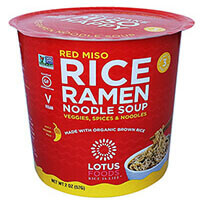 Red Miso Rice Ramen Noodle Soup