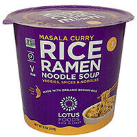 Masala Curry Rice Ramen Noodle Soup