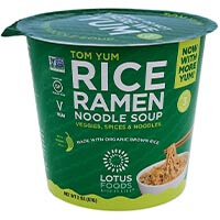 Tom Yum Rice Ramen Noodle Soup
