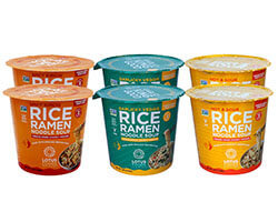 Rice Ramen Noodle Soup with Freeze-Dried Chunky Veggies Variety Pack