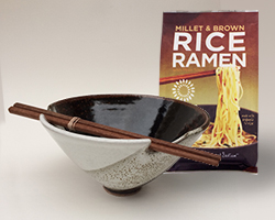 Millet & Brown Rice Ramen with Handmade Ceramic Bowl